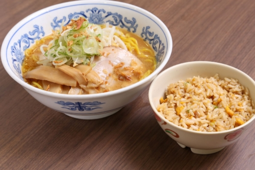 Ramen&small fried rice set(Miso-flavored/Soy sause flavored)