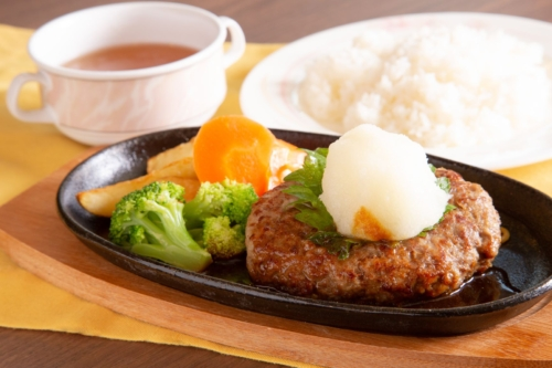 Japanese hamburger steak set